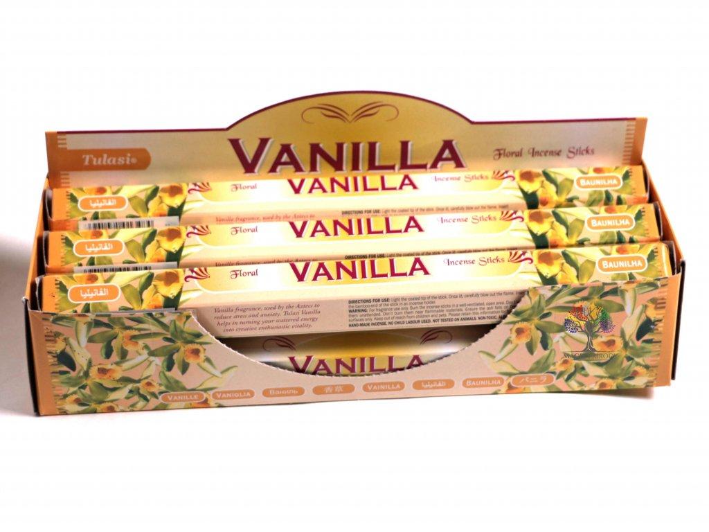 Vonné tyčinky Tulasi  Vanilla - vůně Vanilka - 20 ks - #04  + až 10% sleva po registraci
