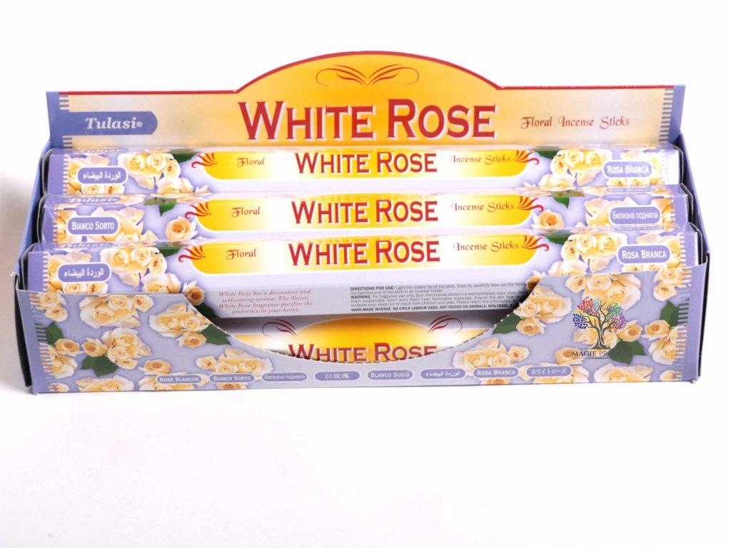 Vonné tyčinky Tulasi White Rose - vůně Růže - 20 ks - #07  + sleva 5% po registraci na většinu zboží + dárek k objednávce