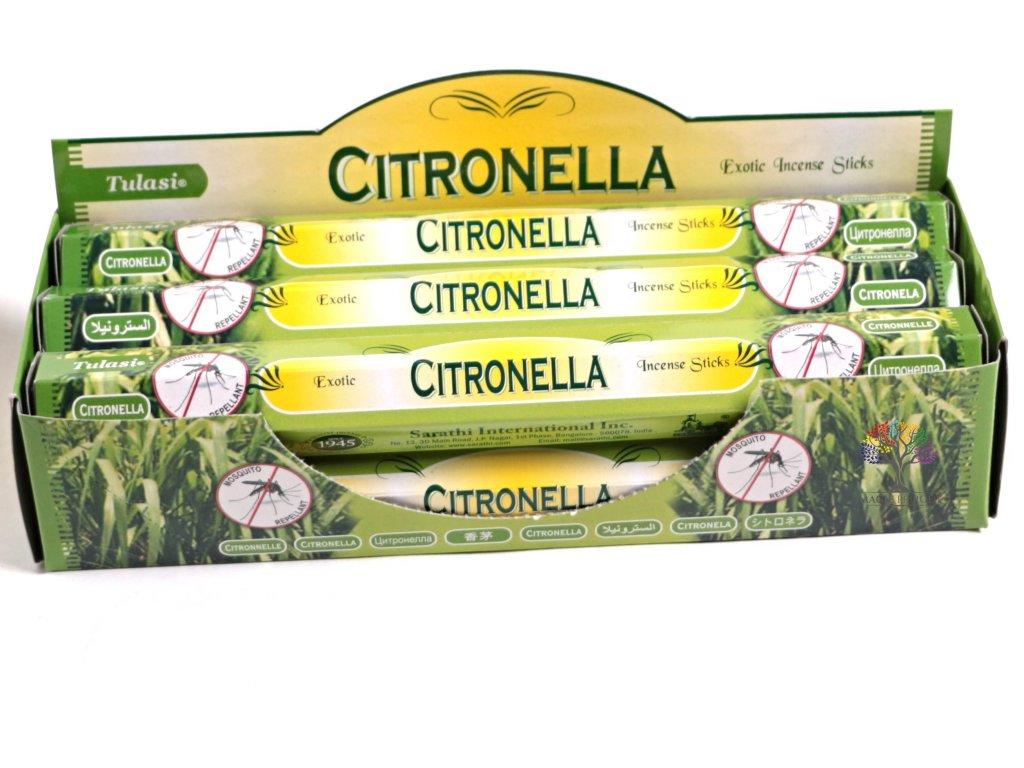 Vonné tyčinky Tulasi Citronella - vůně Citrusová tráva - 20 ks - #10