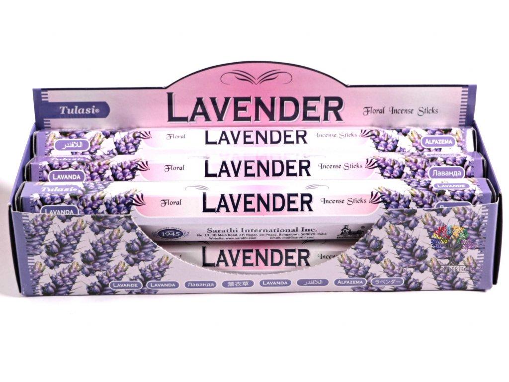 Vonné tyčinky Tulasi Lavender - vůně Levandule - 20 ks - #11