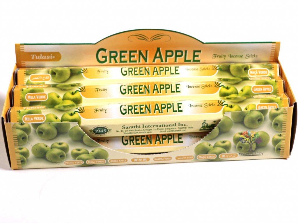 Vonné tyčinky Tulasi Green Apple - vůně Zelené jablko - 20 ks - #12  + sleva 5% po registraci na většinu zboží + dárek k objednávce