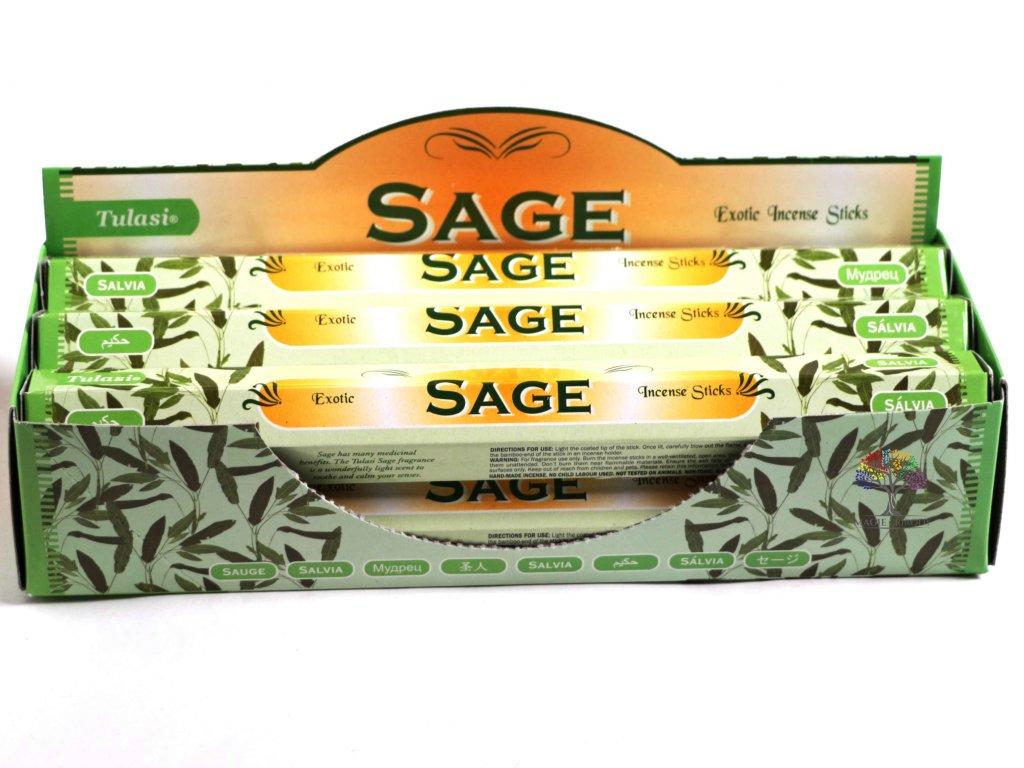 Vonné tyčinky Tulasi Sage - vůně Šalvěj - 20 ks - #14  + až 10% sleva po registraci