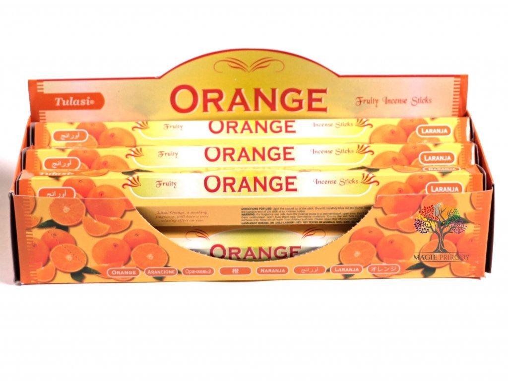 Vonné tyčinky Tulasi Orange - vůně Pomeranč - 20 ks - #15  + sleva 5% po registraci na většinu zboží + dárek k objednávce