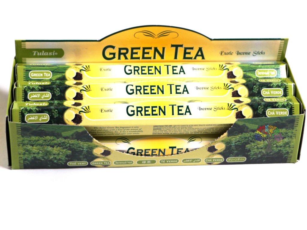 Vonné tyčinky Tulasi Green Tea - vůně Zelený čaj - 20 ks - #16  + až 10% sleva po registraci
