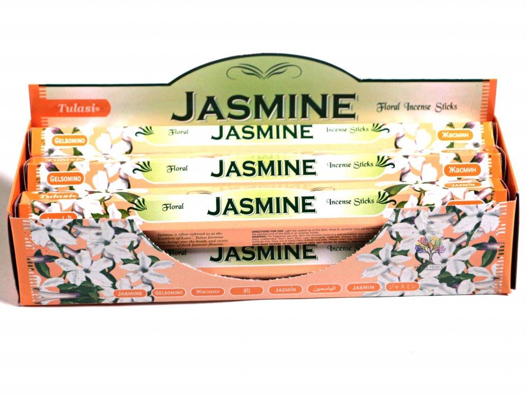 Vonné tyčinky Tulasi Jasmine - vůně Jasmín - 20 ks - #17  + až 10% sleva po registraci