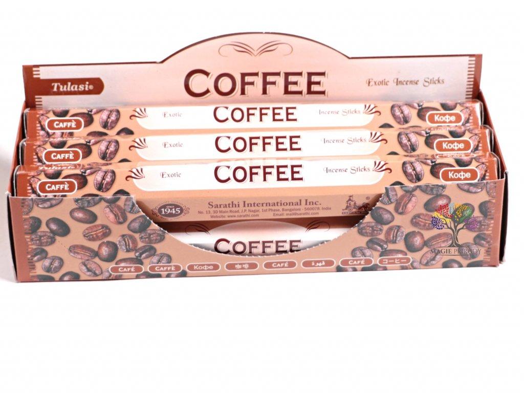 Vonné tyčinky Tulasi Coffee - vůně Káva - 20 ks - #21  + sleva 5% po registraci na většinu zboží + dárek k objednávce