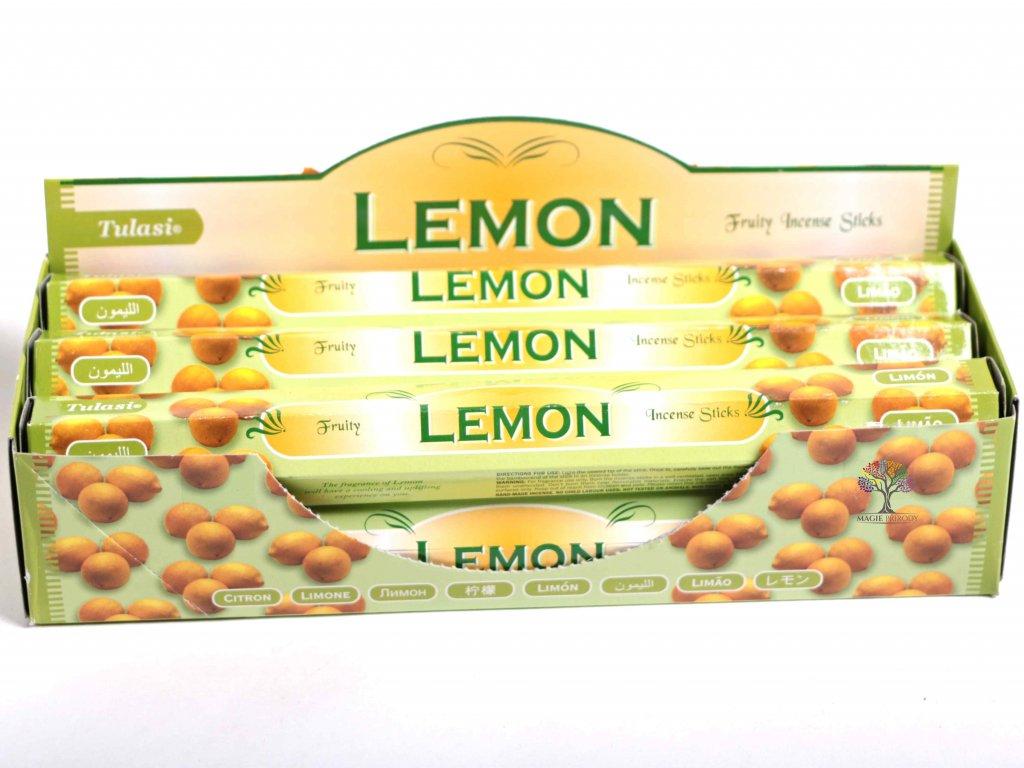 Vonné tyčinky Tulasi Lemon - vůně Citrón - 20 ks - #22