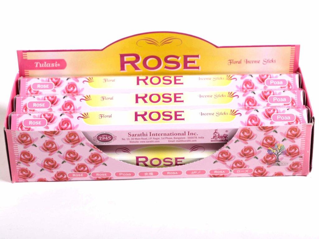 Vonné tyčinky Tulasi Rose - vůně Růže - 20 ks - #24