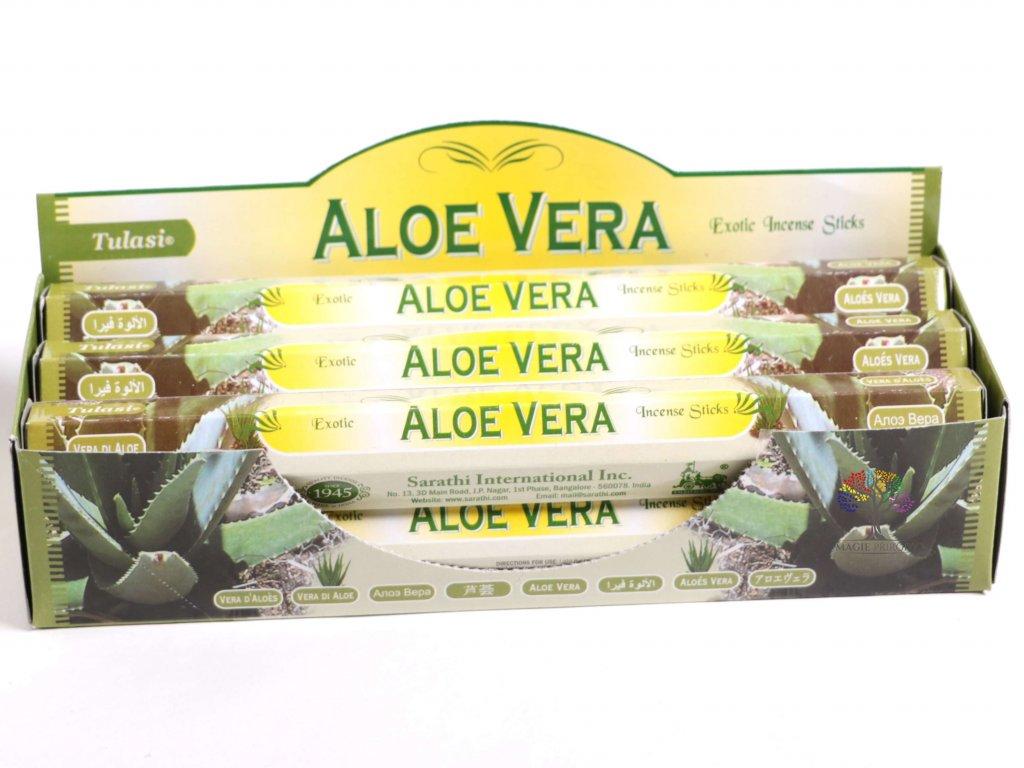 Vonné tyčinky Tulasi Aloe Vera - vůně Aloe - 20 ks - #25