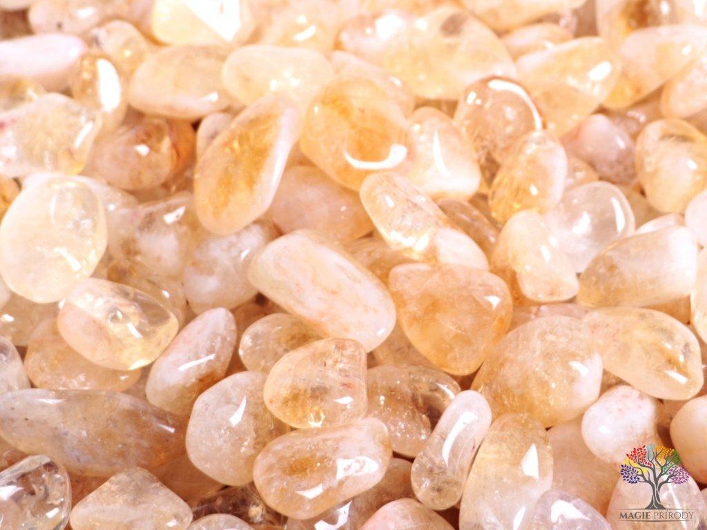Tromlované kamínky Citrín L o velikosti 25 - 35 mm - 500g - Brazílie  + až 10% sleva po registraci