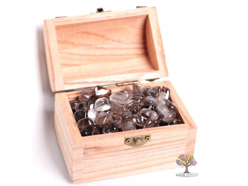 Magická truhlička s kamínky Záhnědy - velikost S (15 - 25) mm - Brazílie  + sleva 5% po registraci na většinu zboží + dárek k objednávce