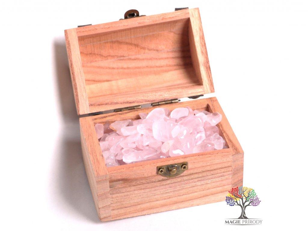 Magická truhlička s kamínky Růženínu - velikost S (15 - 25) mm - Brazílie  + sleva 5% po registraci na většinu zboží + dárek k objednávce