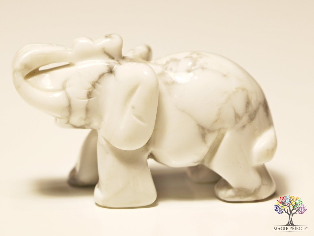 Slon Magnezit 30x50 mm - Slon z přírodního kamene #5