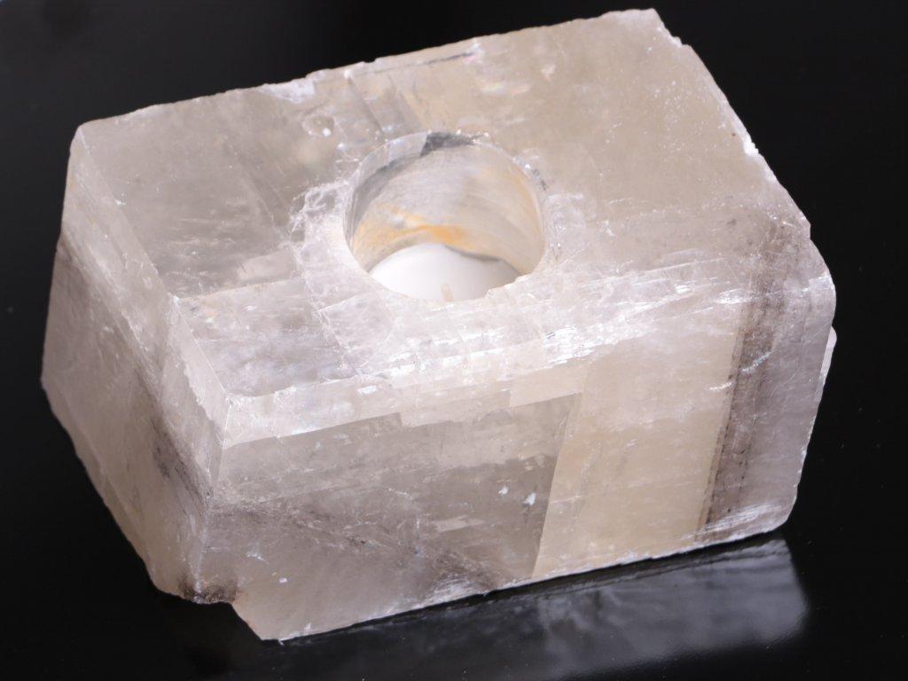 Svícen na svíčku - Kalcit přírodní broušený - 1.620 kg #09
