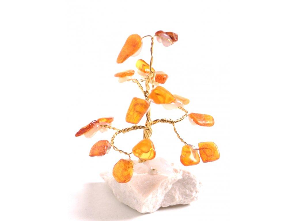 Jantarový stromeček štěstí 7 cm #11