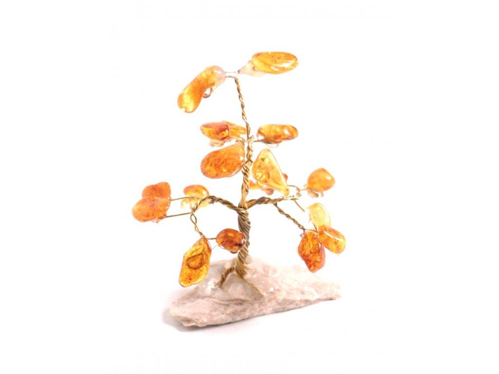 Jantarový stromeček štěstí 7 cm #16