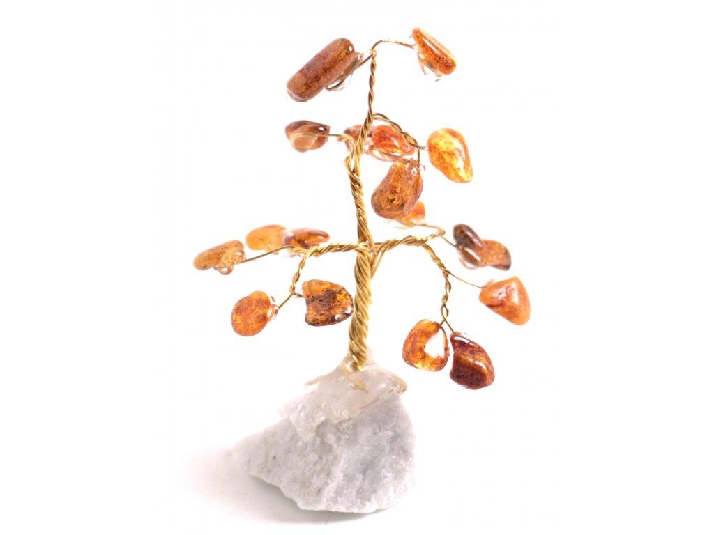 Jantarový stromeček štěstí 7 cm #20