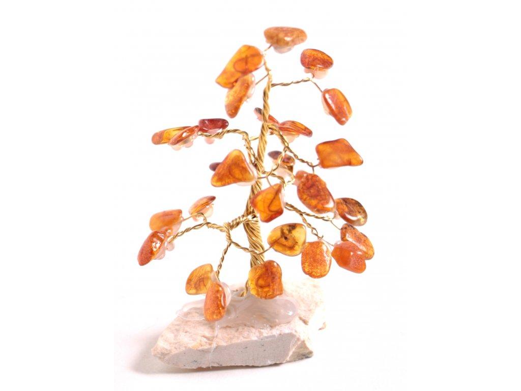 Jantarový stromeček štěstí 8 cm #30  + až 10% sleva po registraci
