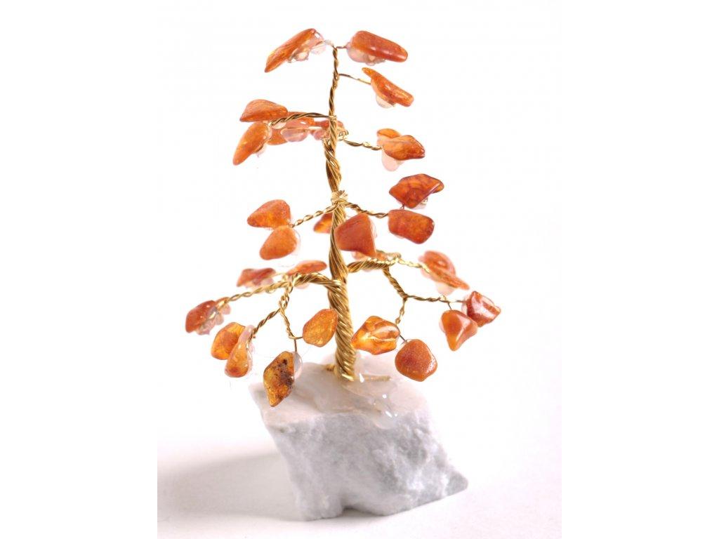Jantarový stromeček štěstí 9 cm #31