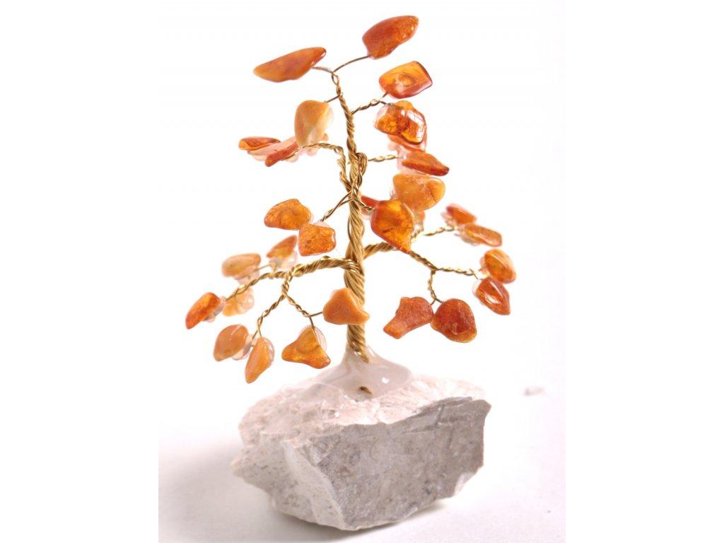 Jantarový stromeček štěstí 9 cm #33  + sleva 5% po registraci na většinu zboží + dárek k objednávce