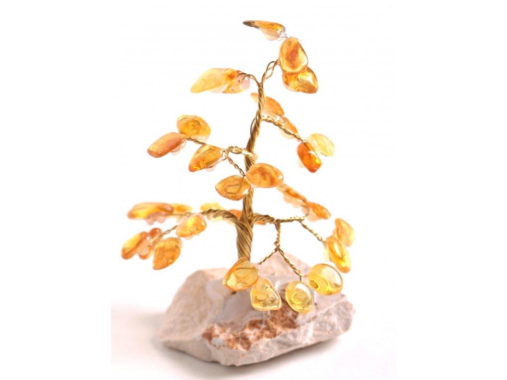 Jantarový stromeček štěstí 9 cm #36  + sleva 5% po registraci na většinu zboží + dárek k objednávce