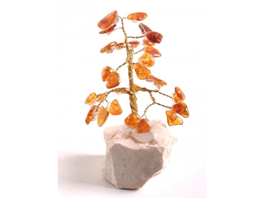 Jantarový stromeček štěstí 9 cm #39  + až 10% sleva po registraci