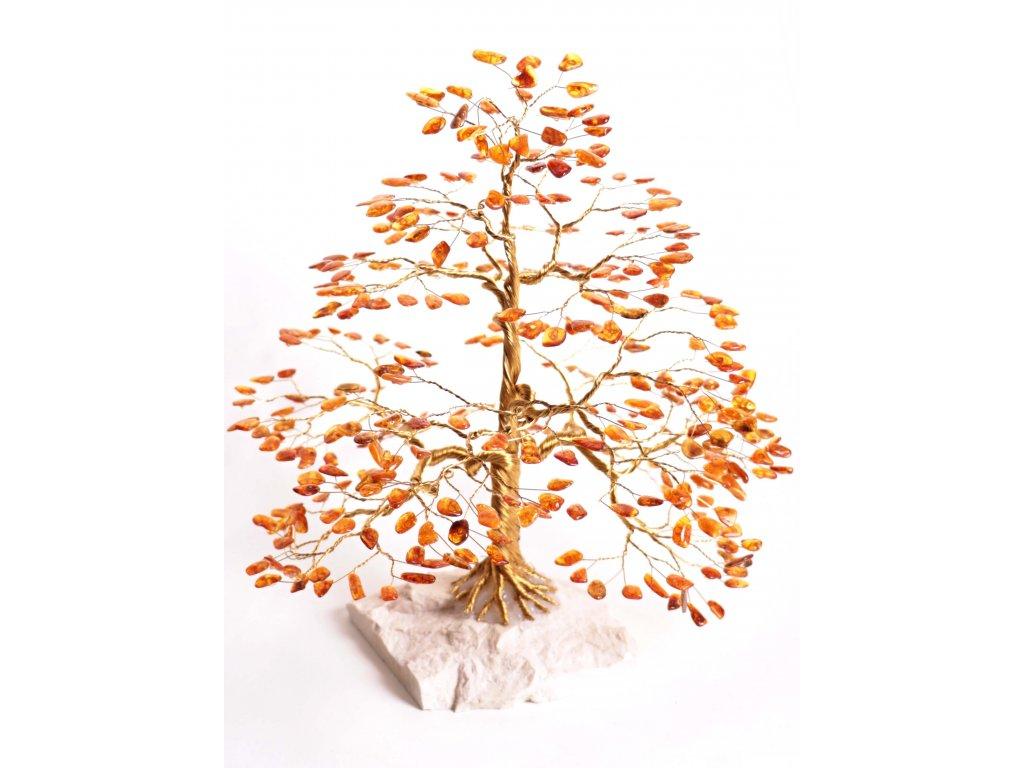 Jantarový stromeček štěstí 33 cm #59  + až 10% sleva po registraci