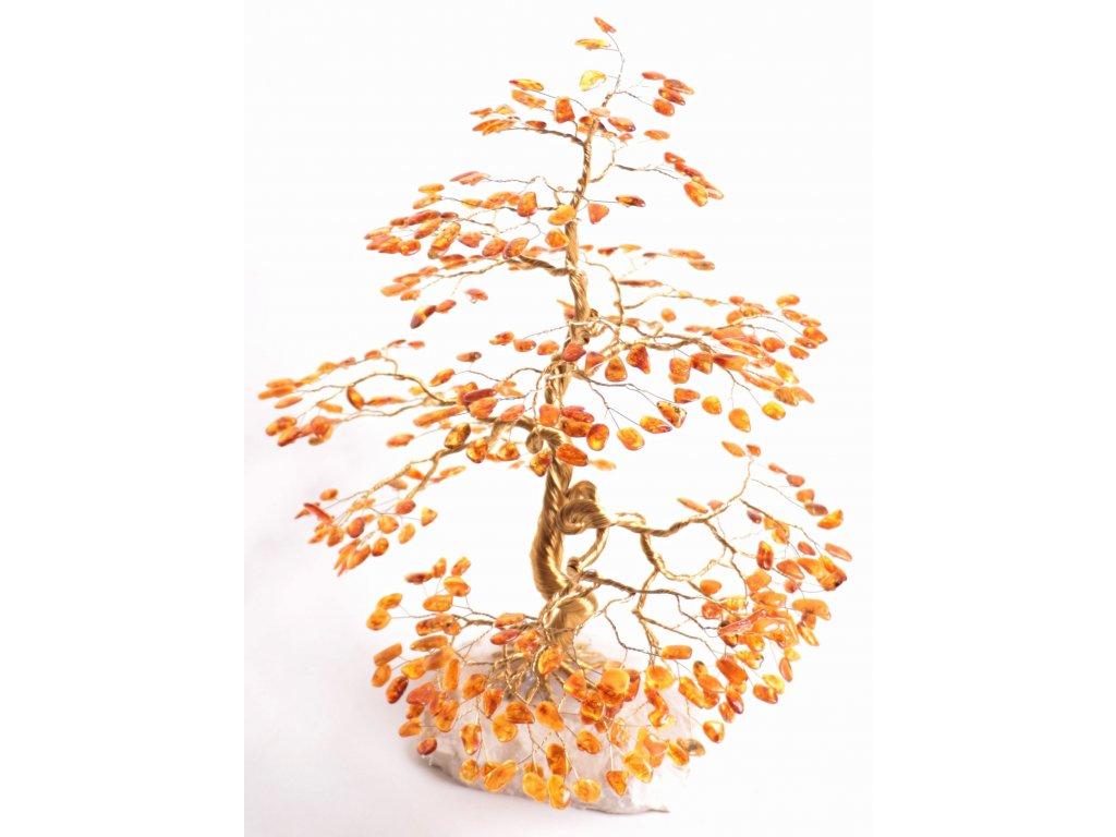 Jantarový stromeček štěstí 38 cm #60  + sleva 5% po registraci na většinu zboží + dárek k objednávce