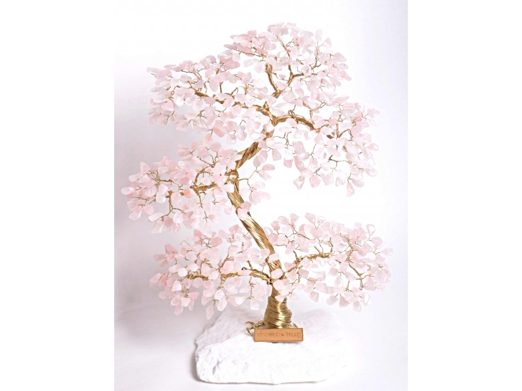 Růženínový stromeček štěstí 35 cm + dárkové balení #63  + sleva 5% po registraci na většinu zboží + dárek k objednávce