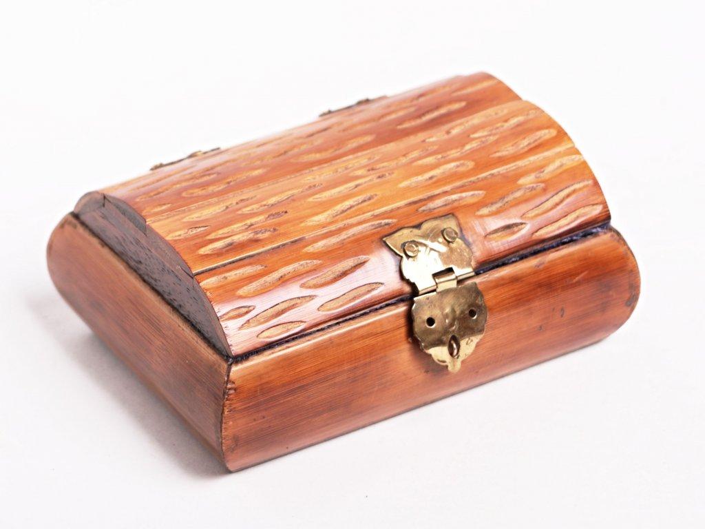 Magická dřevěná truhlička - šperkovnice #05 - Indie