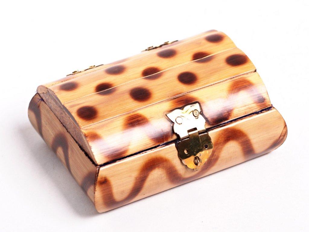 Magická dřevěná truhlička - šperkovnice #06 - Indie  + až 10% sleva po registraci