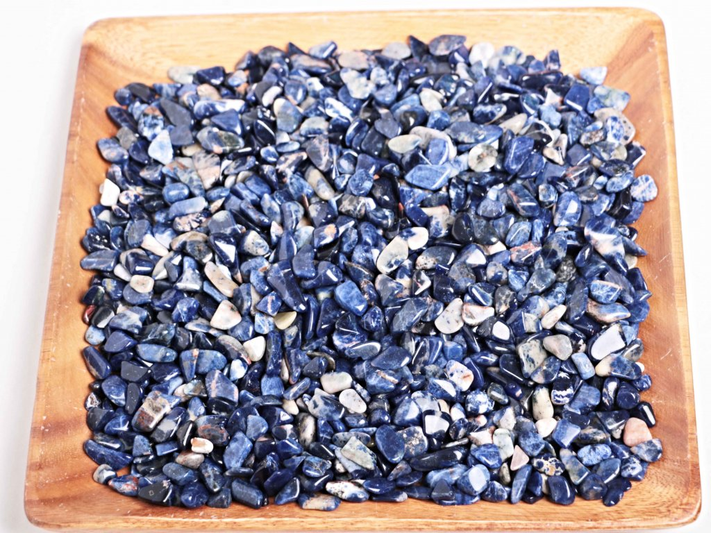 Tromlované kamínky Sodalit S - kameny o velikosti 15 - 25 mm - 100 g - Brazílie