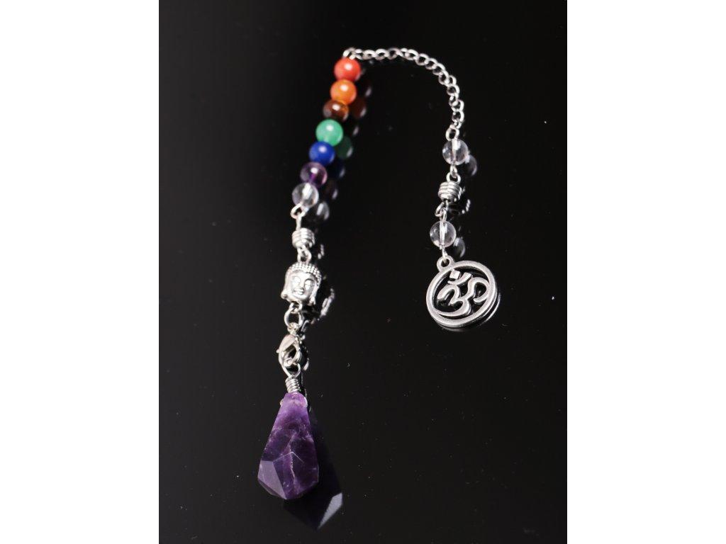 Kyvadlo Ametyst - čakrové - věštecké kyvadélko z kamene #15
