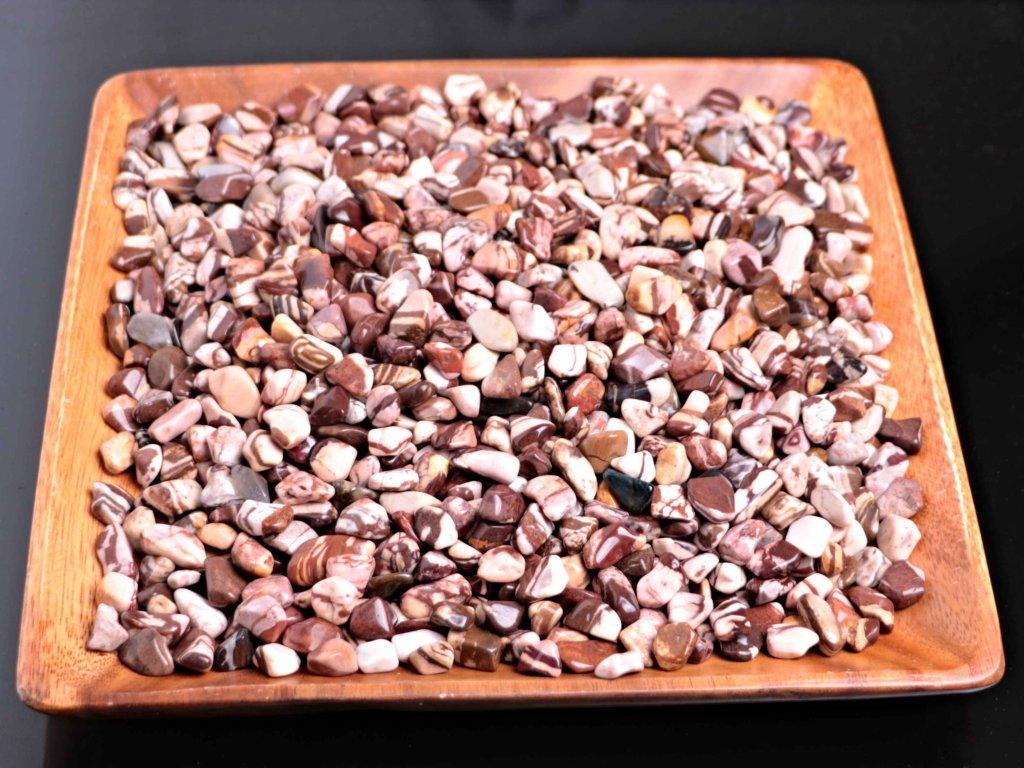 Tromlované kamínky Jaspis Zebra S - kameny o velikosti 15 - 25 mm - 500 g - Brazílie  + sleva 5% po registraci na většinu zboží + dárek k objednávce