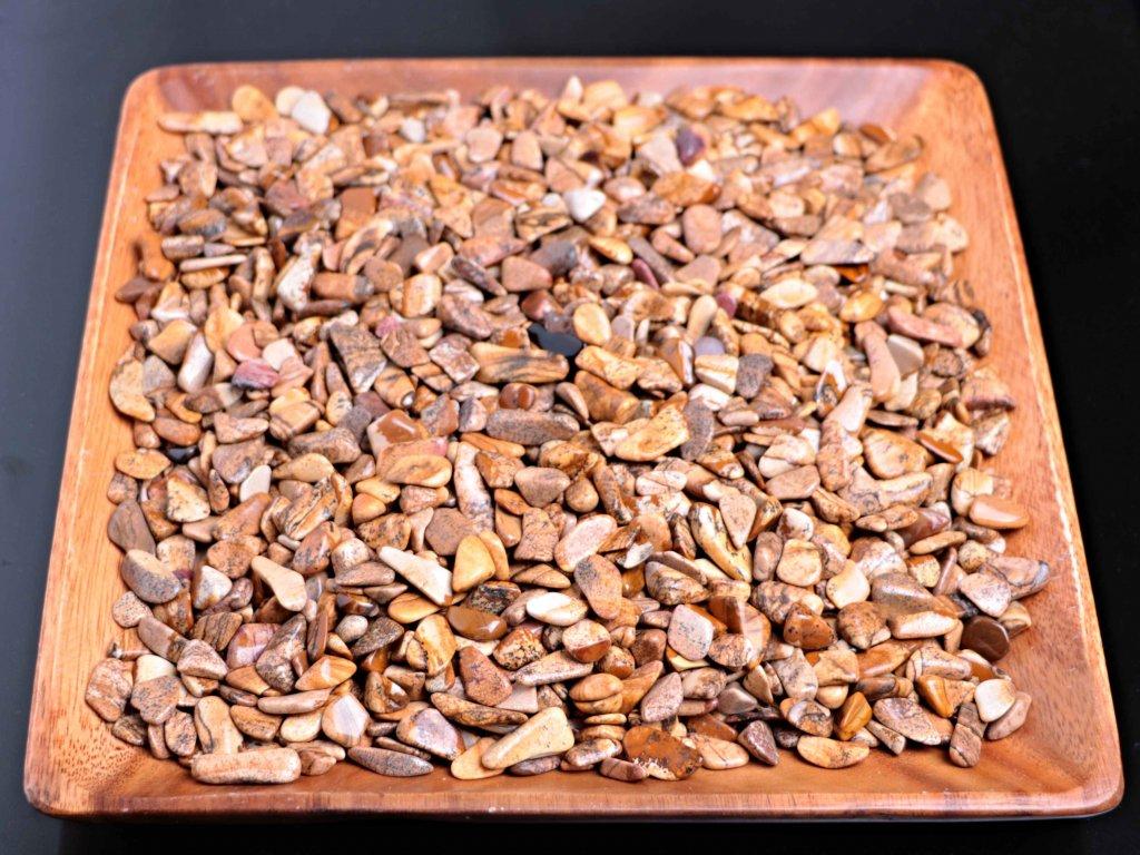 Tromlované kamínky Jaspis Obrázkový S - kameny o velikosti 15 - 25 mm - 1kg - Brazílie  + sleva 5% po registraci na většinu zboží + dárek k objednávce
