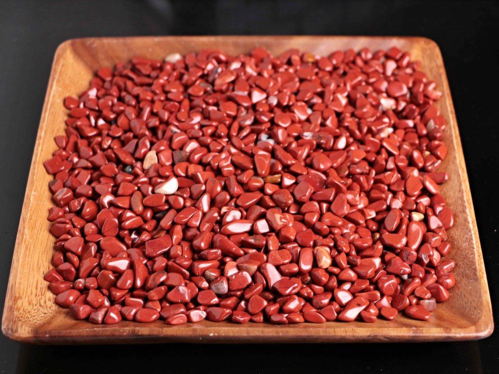 Tromlované kamínky Jaspis Červený S - kameny o velikosti 15 - 25 mm - 1kg - Brazílie  + až 10% sleva po registraci