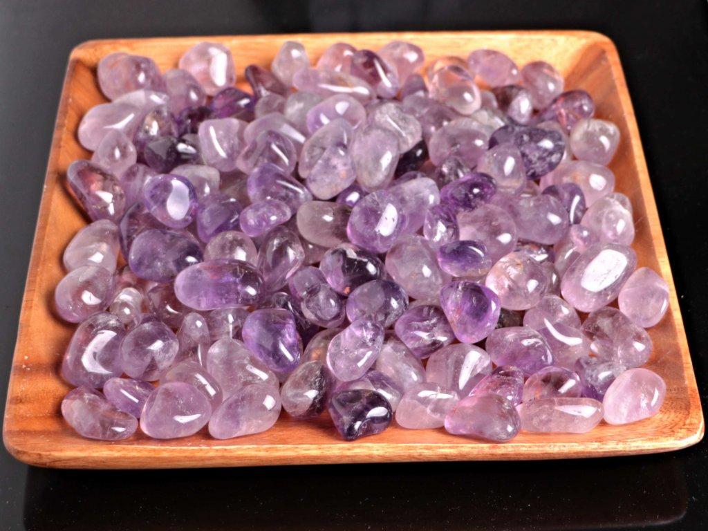 Tromlované kamínky Ametyst L - kameny o velikosti 30 - 45 mm - 100 g - Brazílie