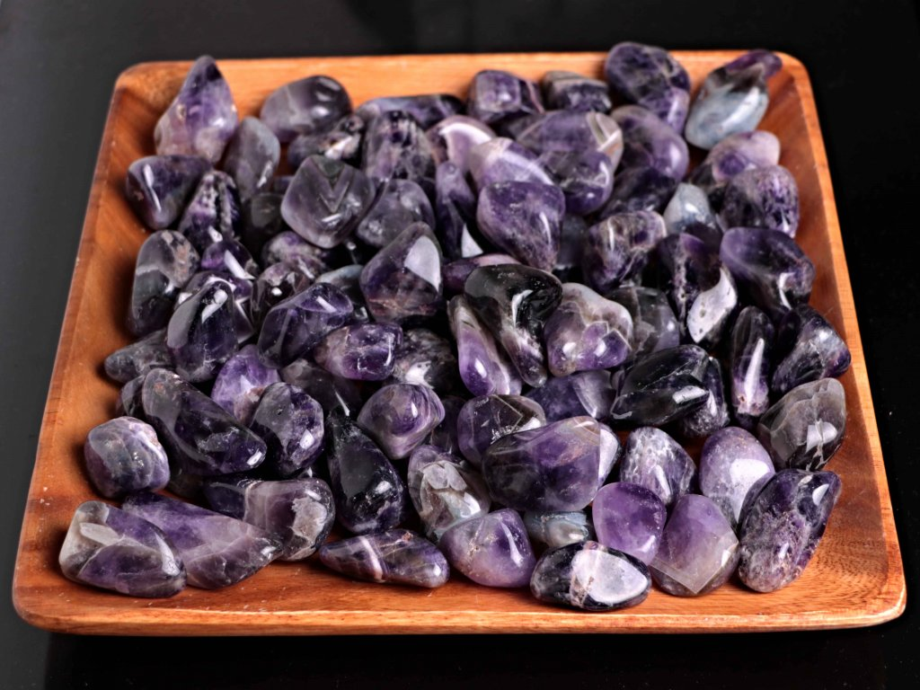 Tromlované kamínky Ametyst XL - kameny o velikosti 30 - 45 mm - 500 g - Zambie