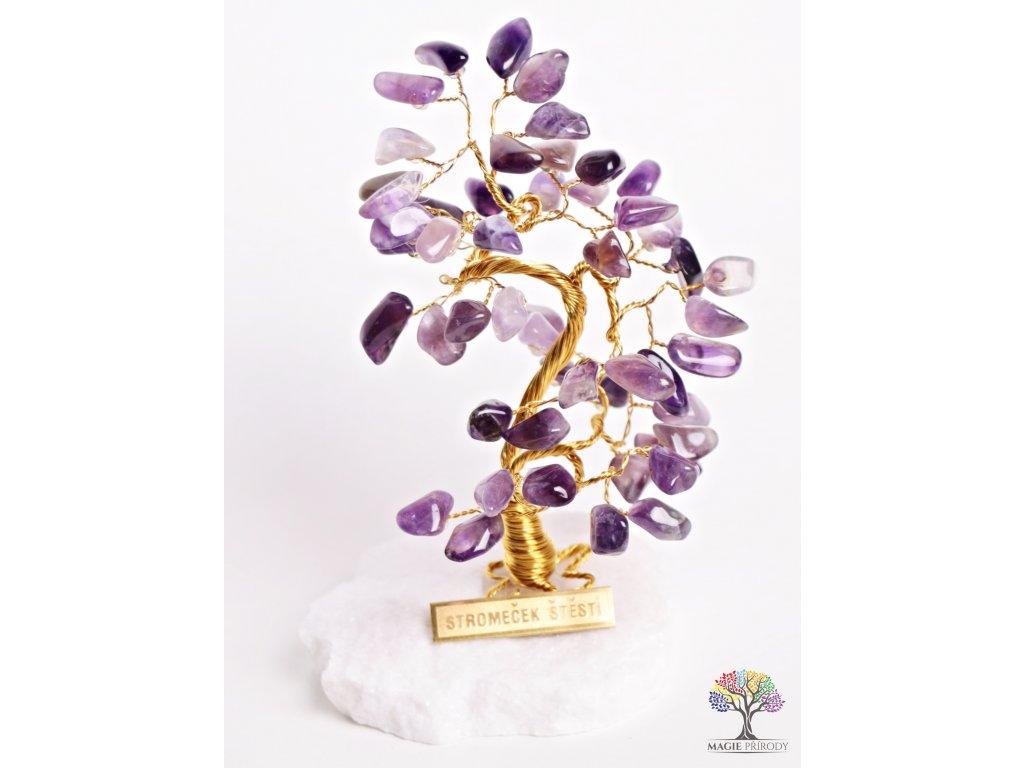 Ametystový stromeček štěstí 13 cm - B0 - #68