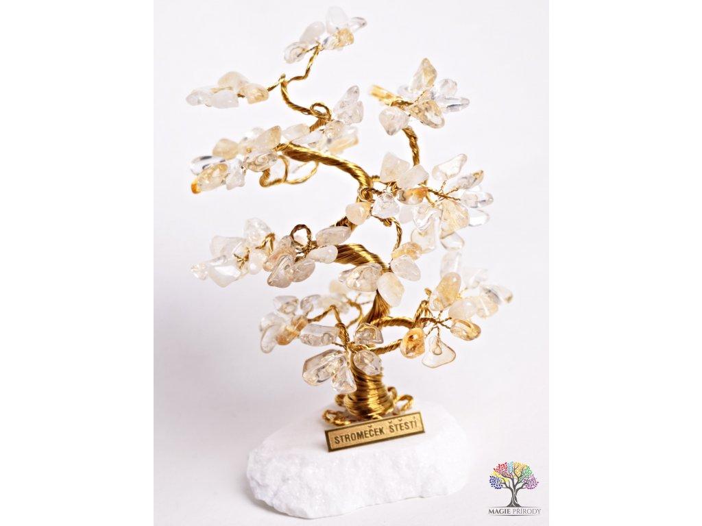 Citrínový stromeček štěstí 18 cm - B2 - #70