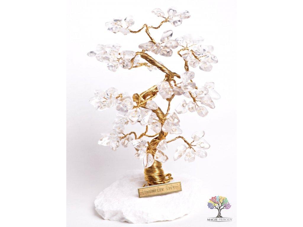 Křišťálový stromeček štěstí 18 cm - B2 - #74