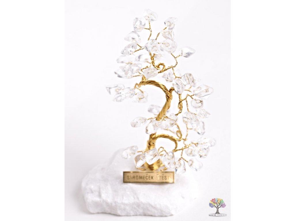 Křišťálový stromeček štěstí 13 cm - B0 - #76  + sleva 5% po registraci na většinu zboží + dárek k objednávce