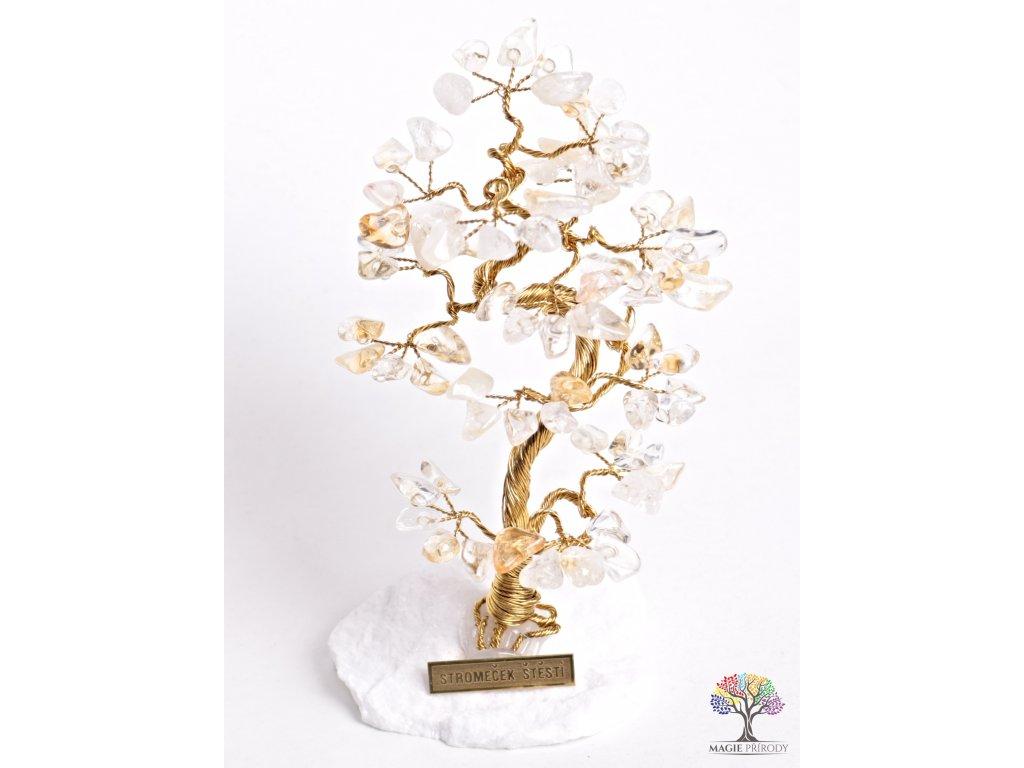 Citrínový stromeček štěstí 16 cm - B1 - #78  + sleva 5% po registraci na většinu zboží + dárek k objednávce