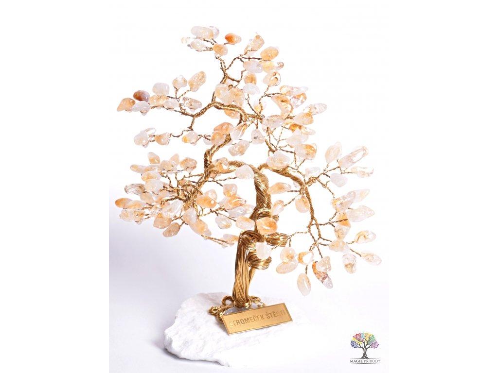 Citrínový stromeček štěstí 25 cm - B3 - #81  + sleva 5% po registraci na většinu zboží + dárek k objednávce