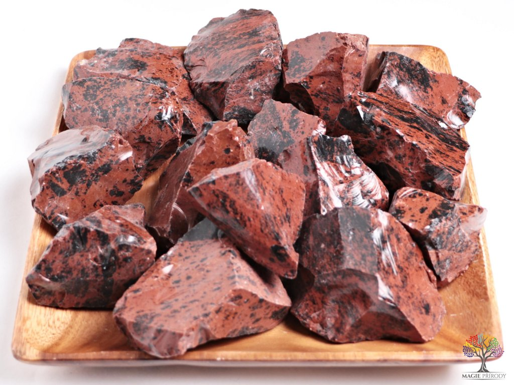 Obsidián Moka surový 5 - 15 cm - TOP kvalita 1 kg