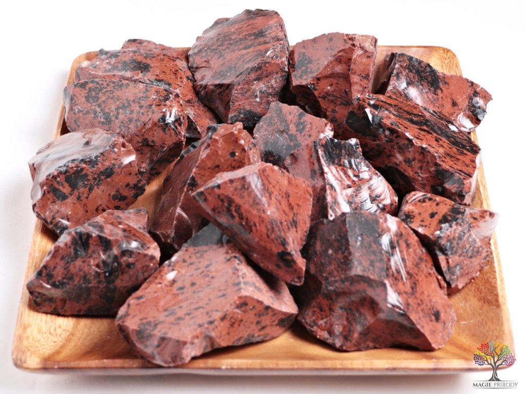 Obsidián Moka surový 5 - 15 cm - TOP kvalita 500 g  + sleva 5% po registraci na většinu zboží + dárek k objednávce