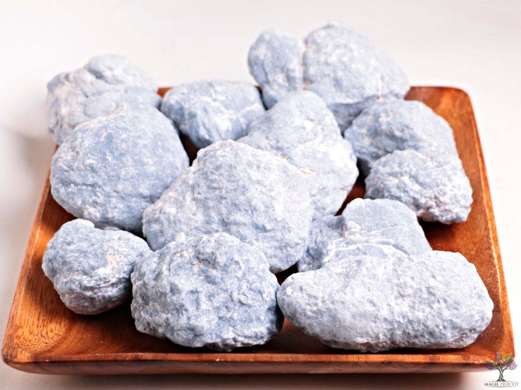 Angelit surový 5 - 15 cm - TOP kvalita 500 g - Andělský kámen  + až 10% sleva po registraci