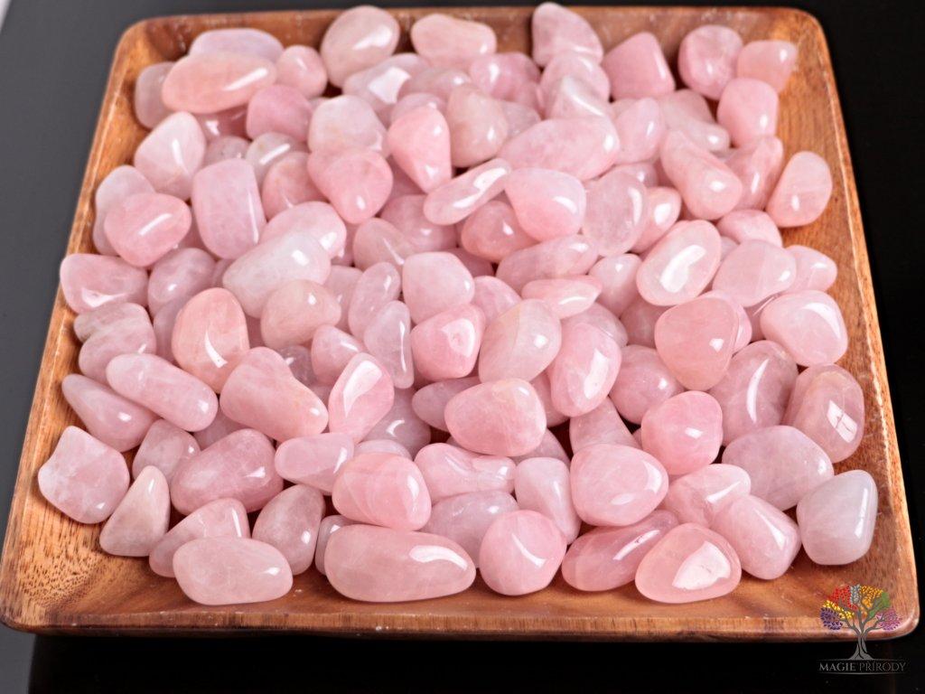 Tromlované kamínky Růženín L - kameny o velikosti 30 - 45 mm - 1kg - Madagaskar