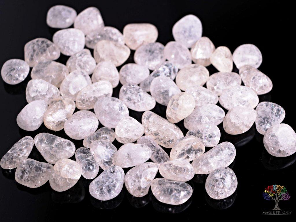 Tromlované kamínky Křišťál pukaný - M - kameny o velikosti 20 - 40 mm - 500 g - Brazílie