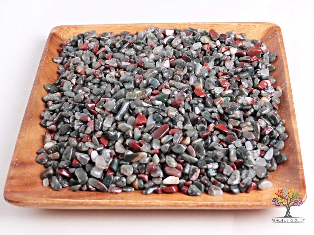 Tromlované kamínky Heliotrop S - kameny o velikosti 15 - 25 mm - 500g - Brazílie